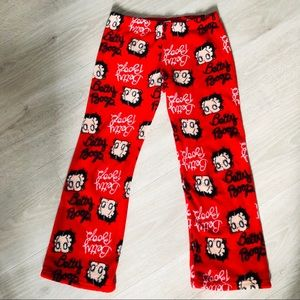 Soft Fuzzy Betty Boop Elastic Waist Pajama Pants